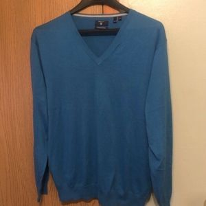 62eb74a29c Gant Men's XL Solid Blue Pullover V-Neck Sweater